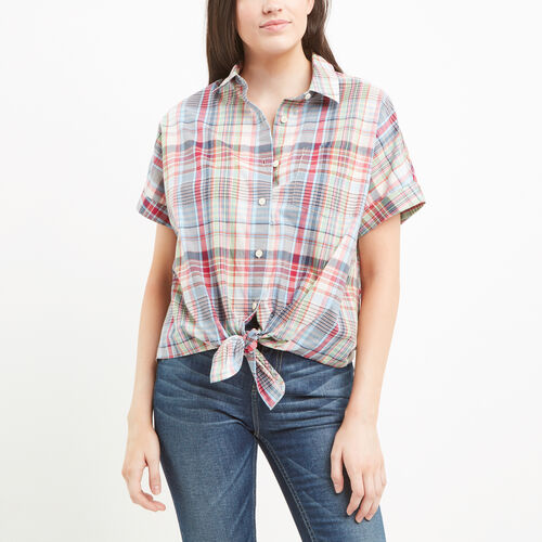 Roots-Women Shirts-Bow River Top-Blossom Pink-A