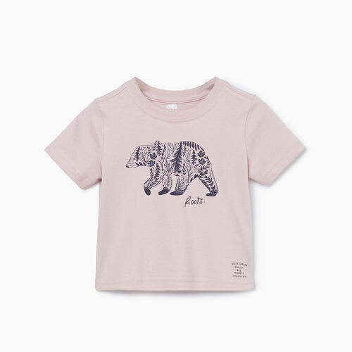 Roots-Kids T-shirts-Baby Woodland Animal T-shirt-Burnished Lilac-A