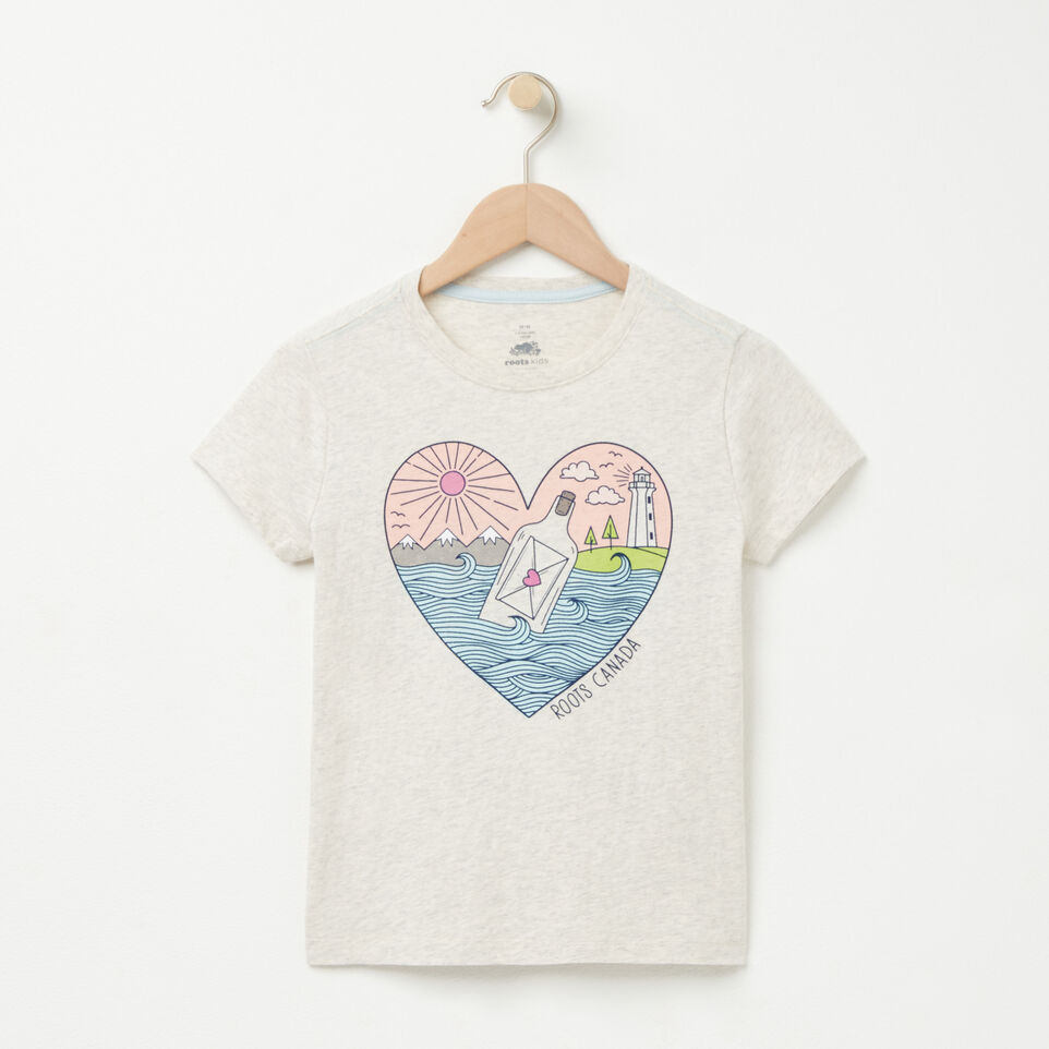 Roots-undefined-Filles T-shirt Message In A Bottle-undefined-A