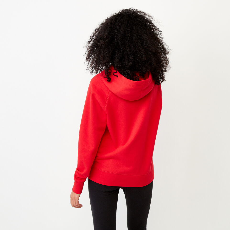 Roots-Clearance Women-Anniversary Hoody-Racing Red-D