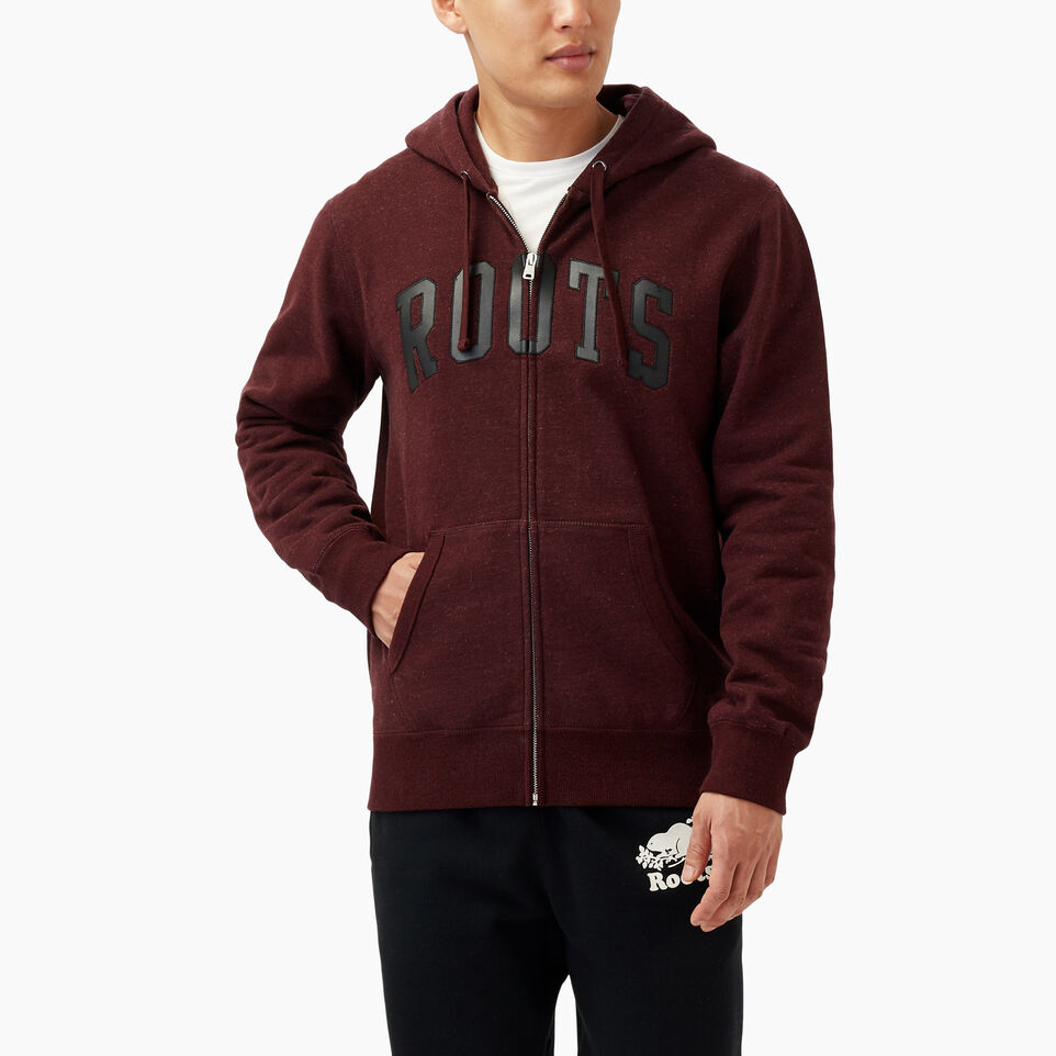 Roots-Winter Sale Men-Roots Arch Full Zip Hoody-Crimson Mix-A