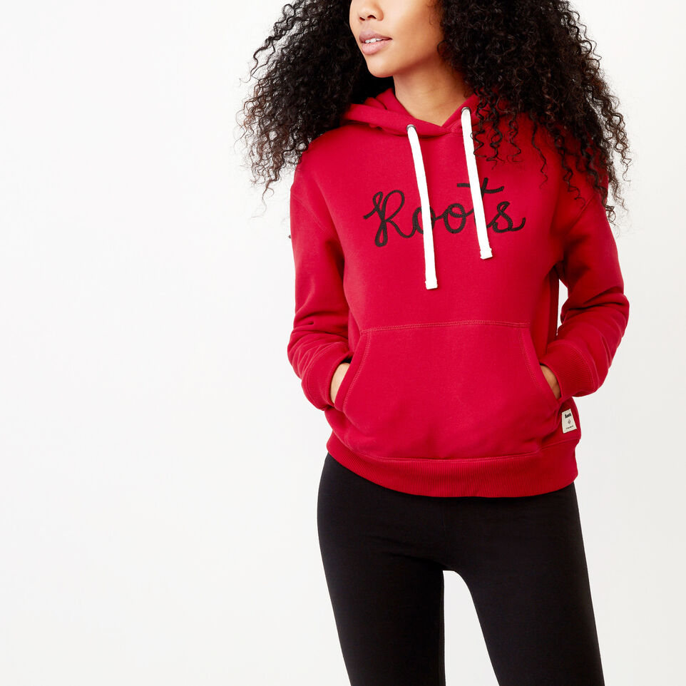 Roots-Clearance Women-Mabou Hoody-Cabin Red-A