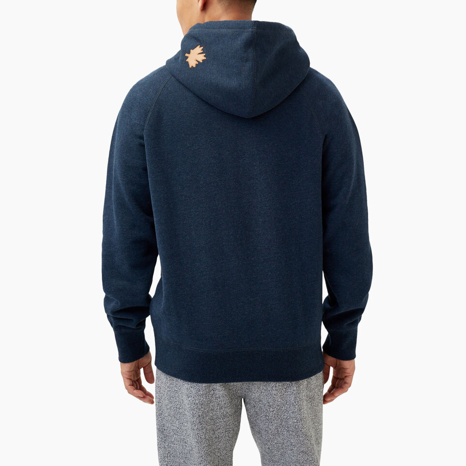 Roots-Winter Sale Men-Roots Arch Kanga Hoody-Navy Blazer Mix-D