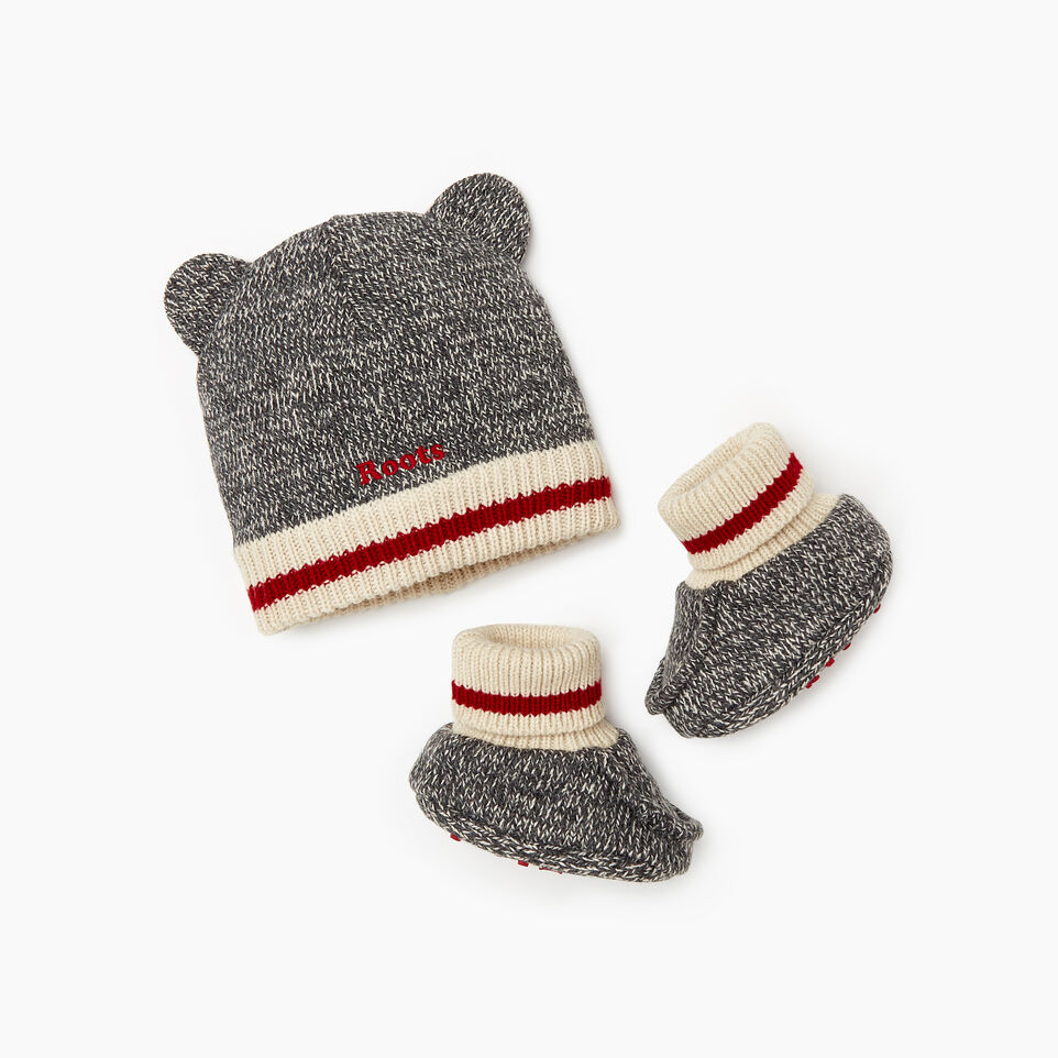 Roots-Kids Baby Girl-Baby Cabin Gift Set-Grey Oat Mix-A