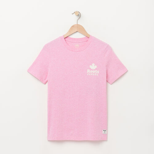 Roots-Women Graphic T-shirts-Womens Canada Cabin T-shirt-Happy Pink Mix-A