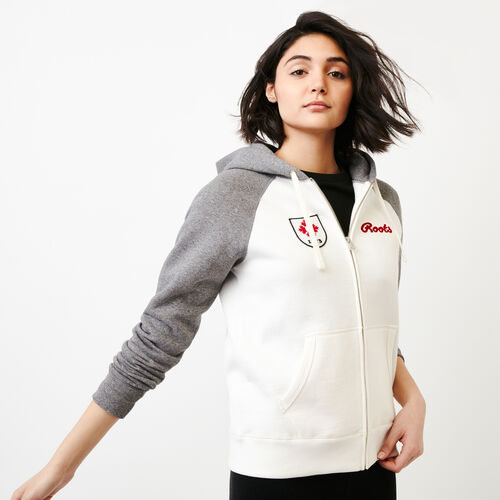 Roots-Women Categories-Womens Canada Full Zip Hoody-Grey Mix Pepper-A