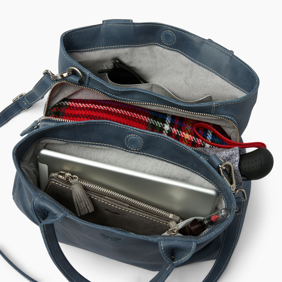 Roots-Leather Categories-Mont Royal Bag-Navy-D