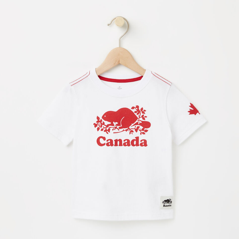 Roots-undefined-Tout-Petits T-shirt Canada Cuivre-undefined-A