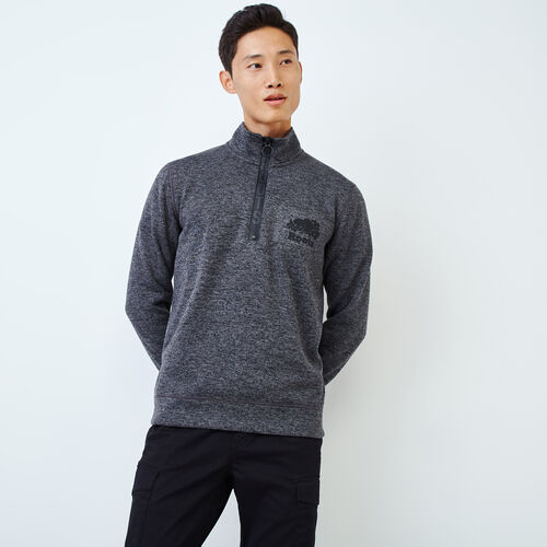 Roots-Men Sweats-Alaska Zip Stein-Charcoal Mix-A