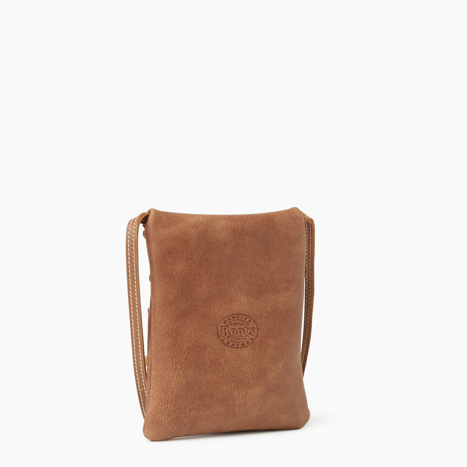 Roots-Leather New Arrivals-Hanging Pouch Tribe-Natural-C