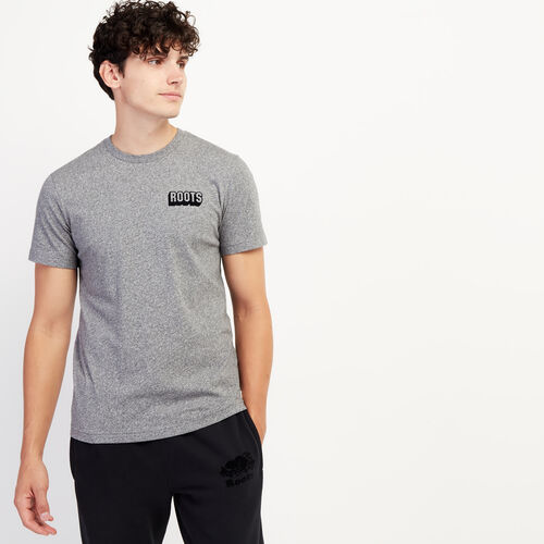 Roots-Sale Tops-Mens Roots Block T-shirt-Salt & Pepper-A