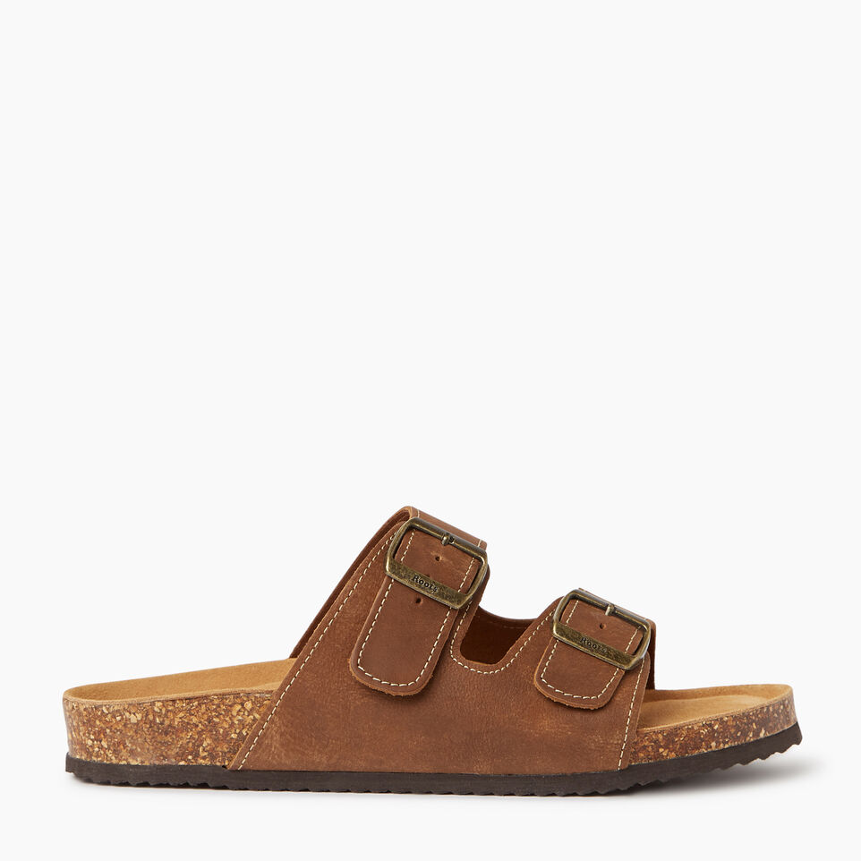 Roots-Mens Natural 2-Strap Sandal