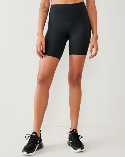 Roots-Shorts Women-High Waisted Journey Bike Short 7 In-Black-A