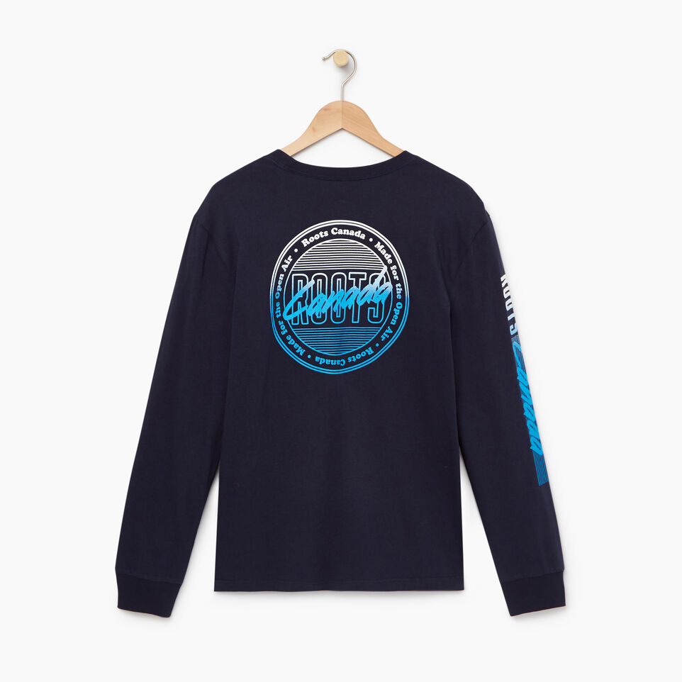 Roots-Men Our Favourite New Arrivals-Mens Roots Miami Long Sleeve T-shirt-Navy Blazer-B