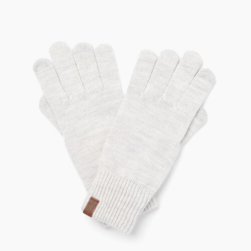 Roots-Clearance Women-Dorval Texting Glove-White Mix-A