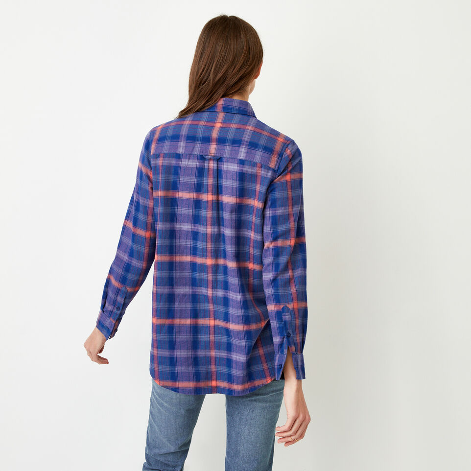 Roots-Women Our Favourite New Arrivals-Nora Flannel Shirt-Dark Lilas-D