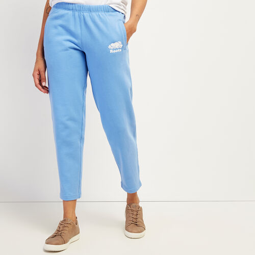 Roots-Women Bottoms-Easy Ankle Sweatpant-Provence Blue-A