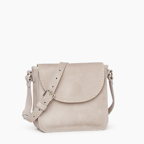 Roots-Leather Handbags-Canmore Crossbody Tribe-Sterling Grey-A