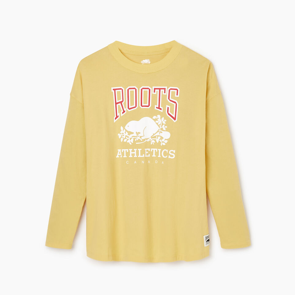 Roots-New For March Rba Collection-Womens RBA Long Sleeve T-shirt-Canary Yellow-A
