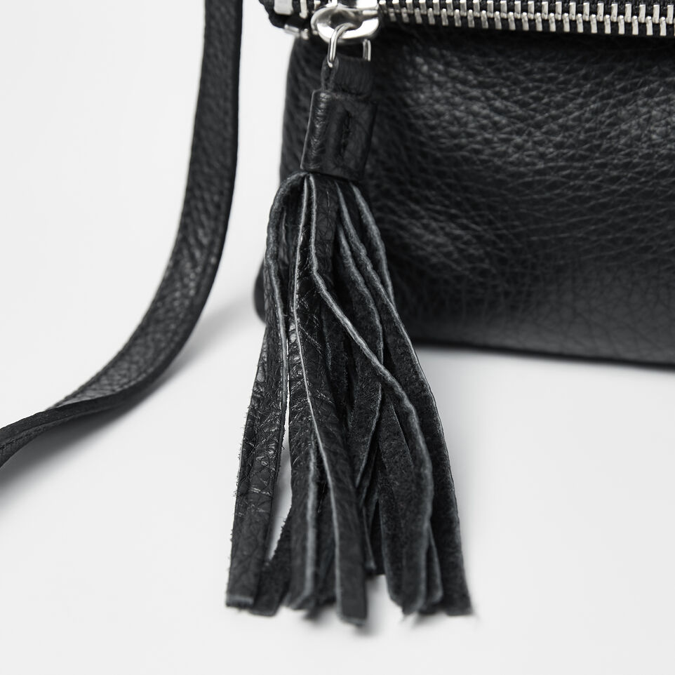 Roots-Leather  Handcrafted By Us Crossbody-Anna Clutch Prince-Black-D