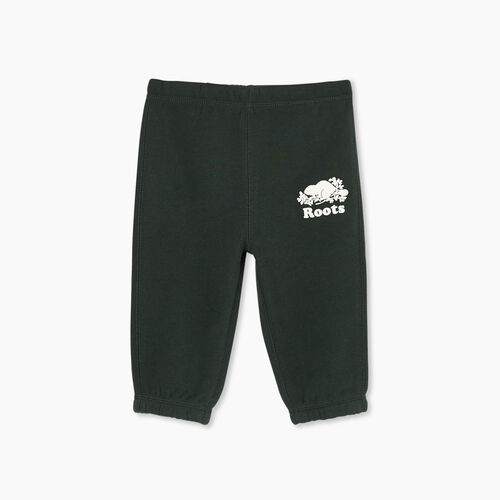 Roots-Kids Bottoms-Baby Original Sweatpant-Park Green-A