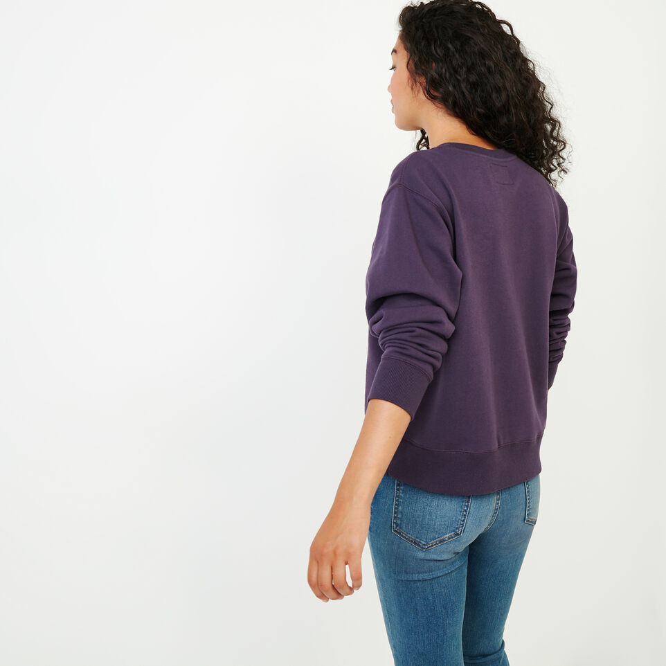 Roots-Women Our Favourite New Arrivals-Stamps Crew Sweatshirt-Night Shade-D