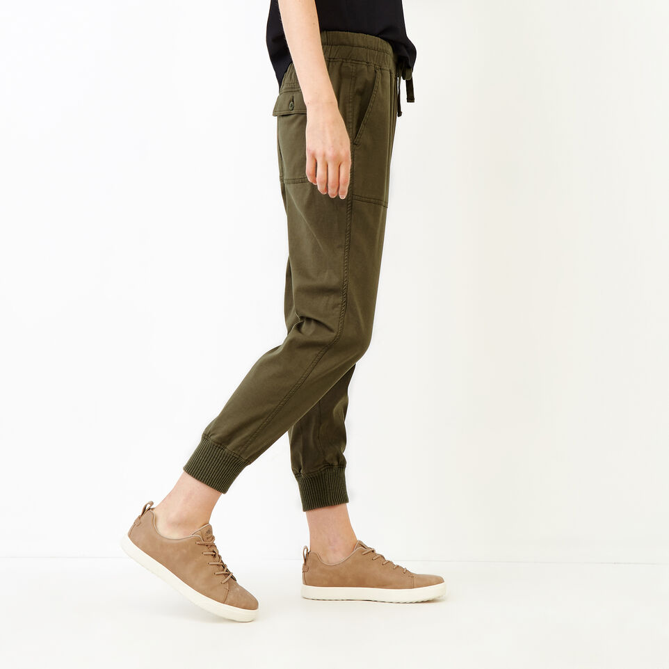 Roots-Women Bottoms-Essential Jogger-Fatigue-C