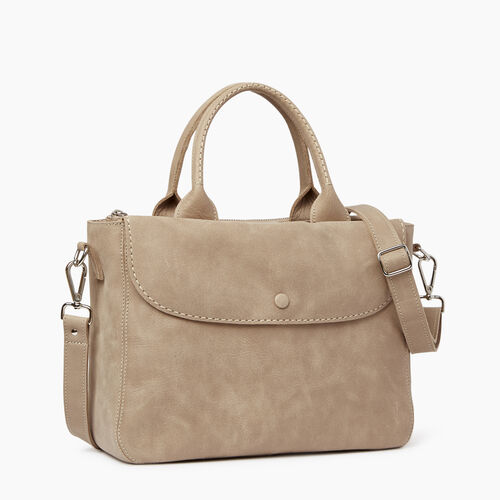Roots-Leather  Handcrafted By Us Collections-Riverdale Tote-Sand-A
