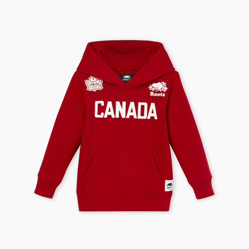 Roots-Kids Tops-Toddler Canada Kanga Hoody-Sage Red-A