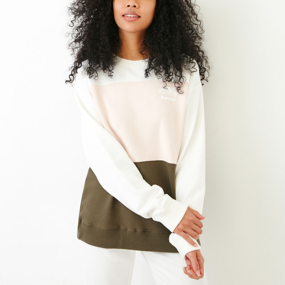 Roots-undefined-Colourblocked Crew Sweatshirt-undefined-A