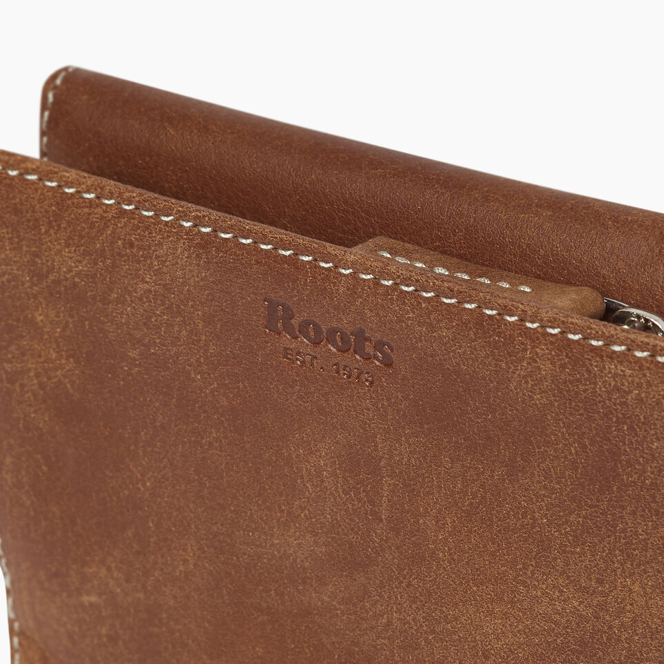 Roots-Leather  Handcrafted By Us Our Favourite New Arrivals-Riverdale Wallet-Natural-E