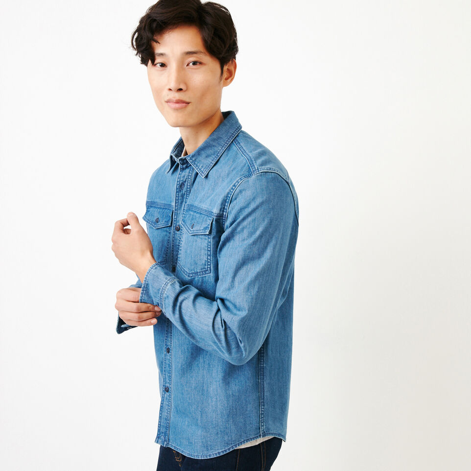 Roots-undefined-Heatley Denim Shirt-undefined-C