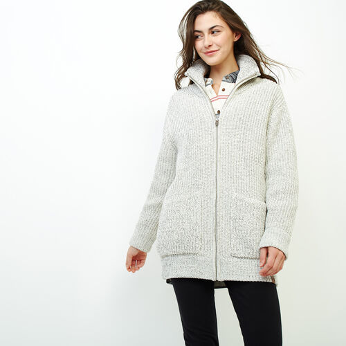 Roots-Women Sweaters & Cardigans-Snowy Fox Zip Coatigan-Snowy Fox-A