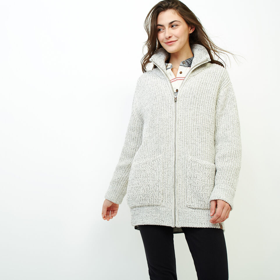 Roots-Women Our Favourite New Arrivals-Snowy Fox Zip Coatigan-Snowy Fox-A