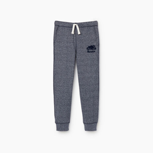 Roots-Kids New Arrivals-Boys Park Slim Sweatpant-Navy Blazer Pepper-A