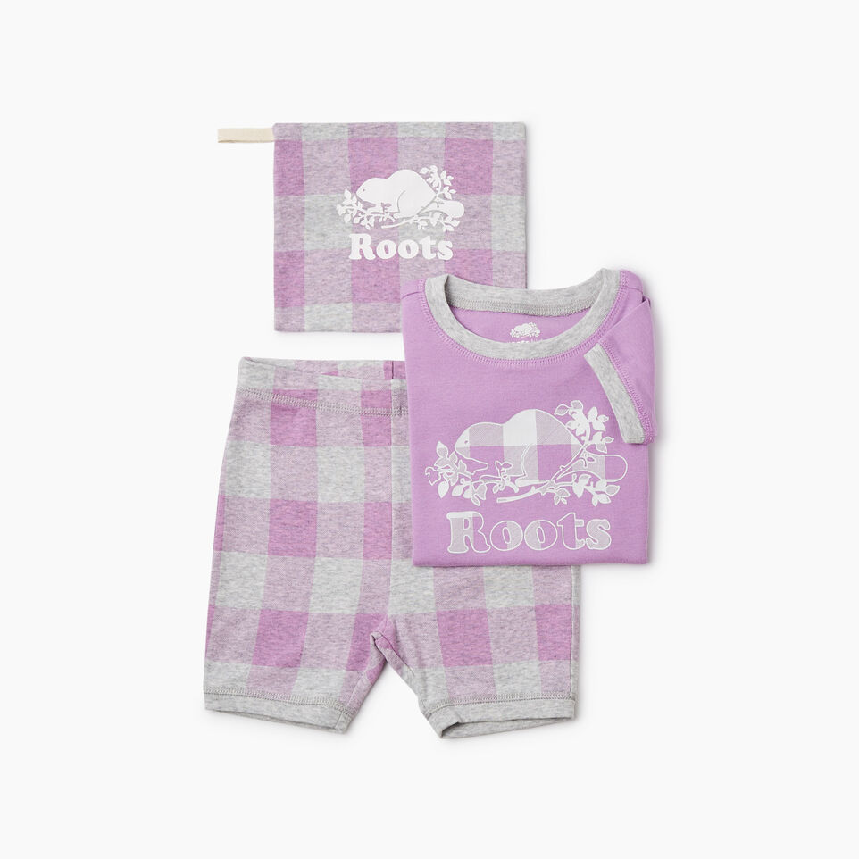 Roots-undefined-Girls Plaid PJ Set-undefined-B