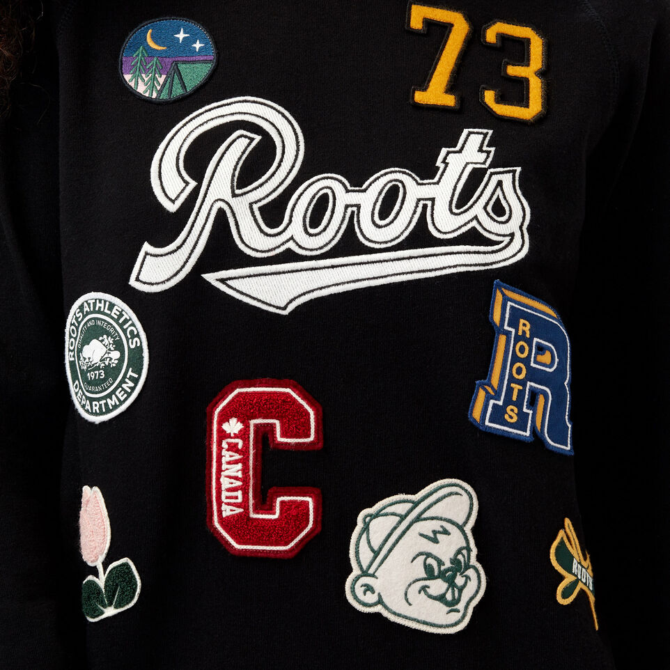 Roots-undefined-Varsity Roots Patches Crew Sweatshirt-undefined-E