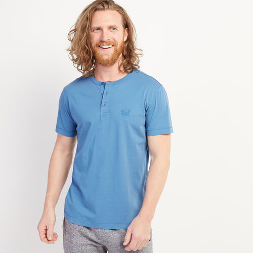 Roots-Men Clothing-Essential Henley-Federal Blue-A