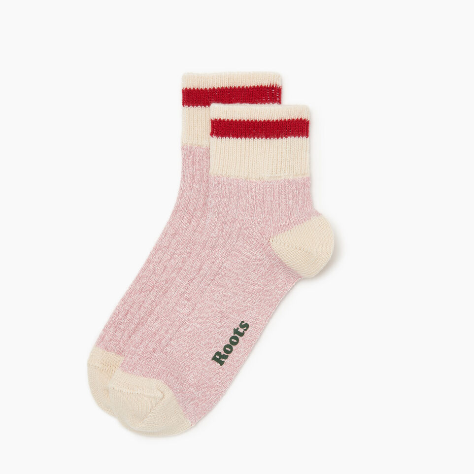 Roots-Women Our Favourite New Arrivals-Cotton Cabin Ankle Sock 2 pack-Pink-A