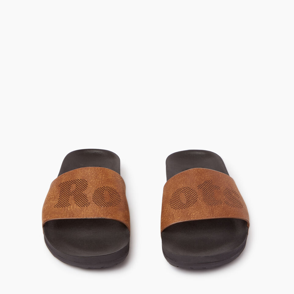 Roots-Footwear Our Favourite New Arrivals-Womens Long Beach Pool Slide-Natural-D