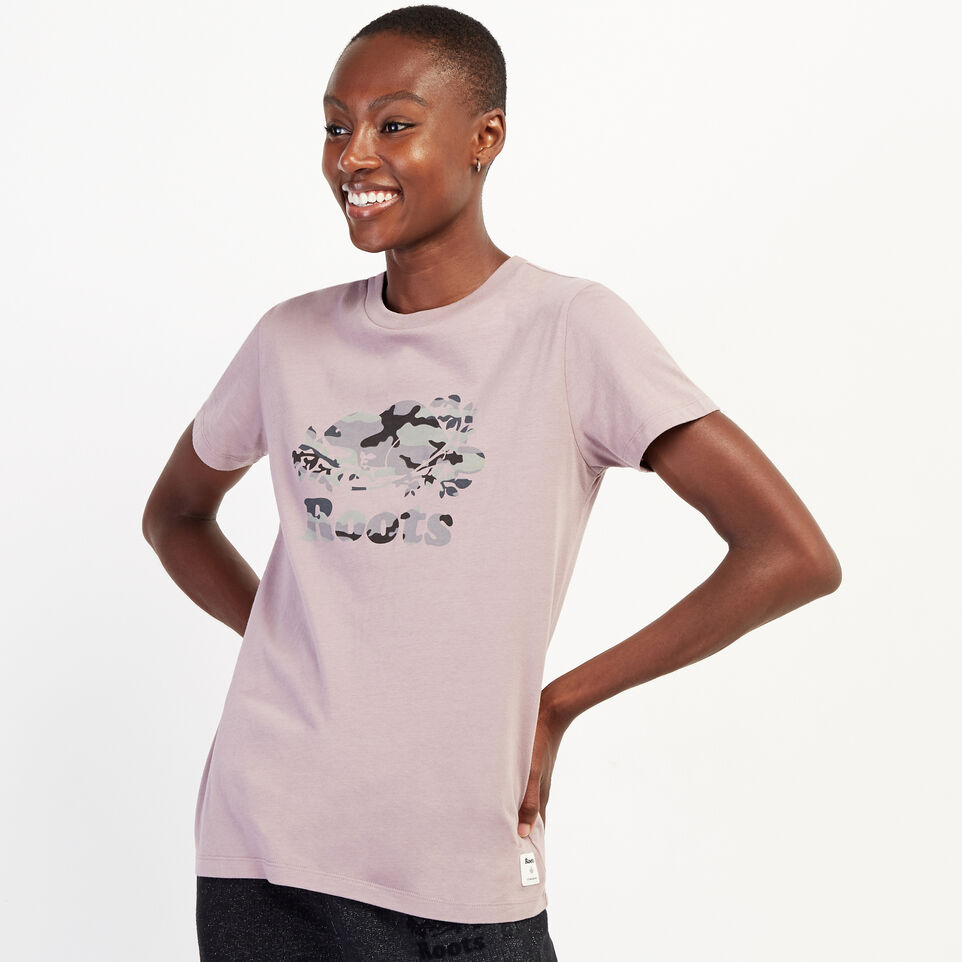 Roots-undefined-Womens Camo Beaver T-shirt-undefined-A