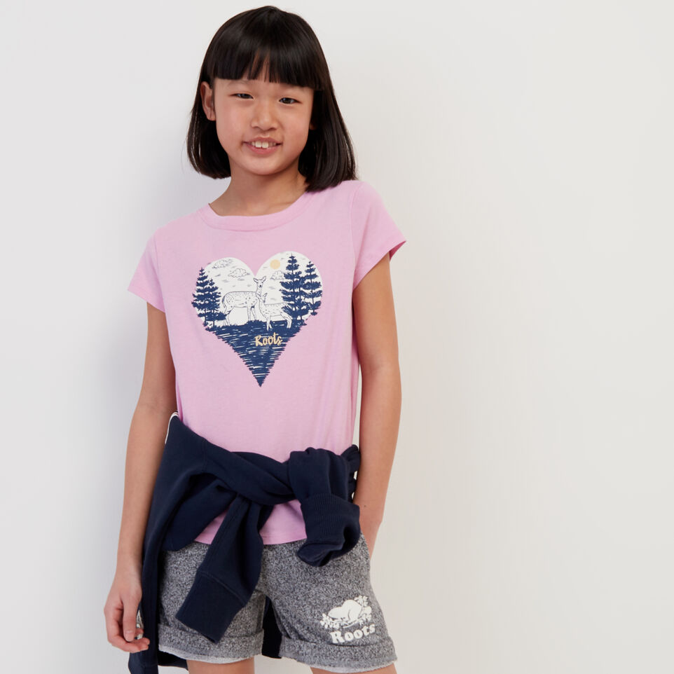 Roots-Sale Kids-Girls Life Is Better T-shirt-Pastel Lavender-A