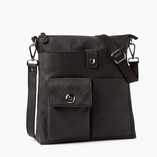 Roots-Leather Crossbody-Canadian Villager-Jet Black-A