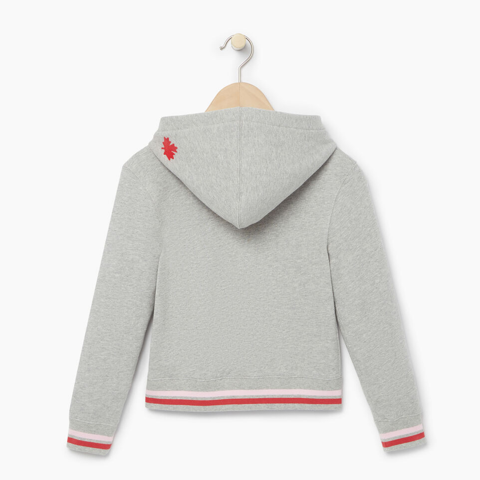 Roots-Kids Categories-Girls Roots Varsity Kanga Hoody-Grey Mix-B