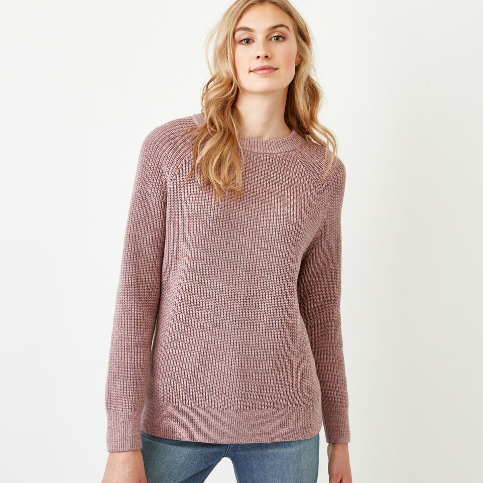 Roots-Women Our Favourite New Arrivals-Yukon Crew Sweater-Dark Lilas Mix-C