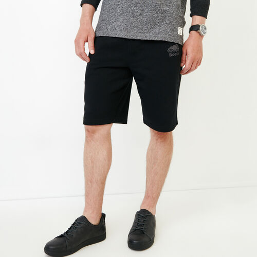 Roots-Hommes Shorts-Short en coton ouaté Roots Breathe-Noir-A
