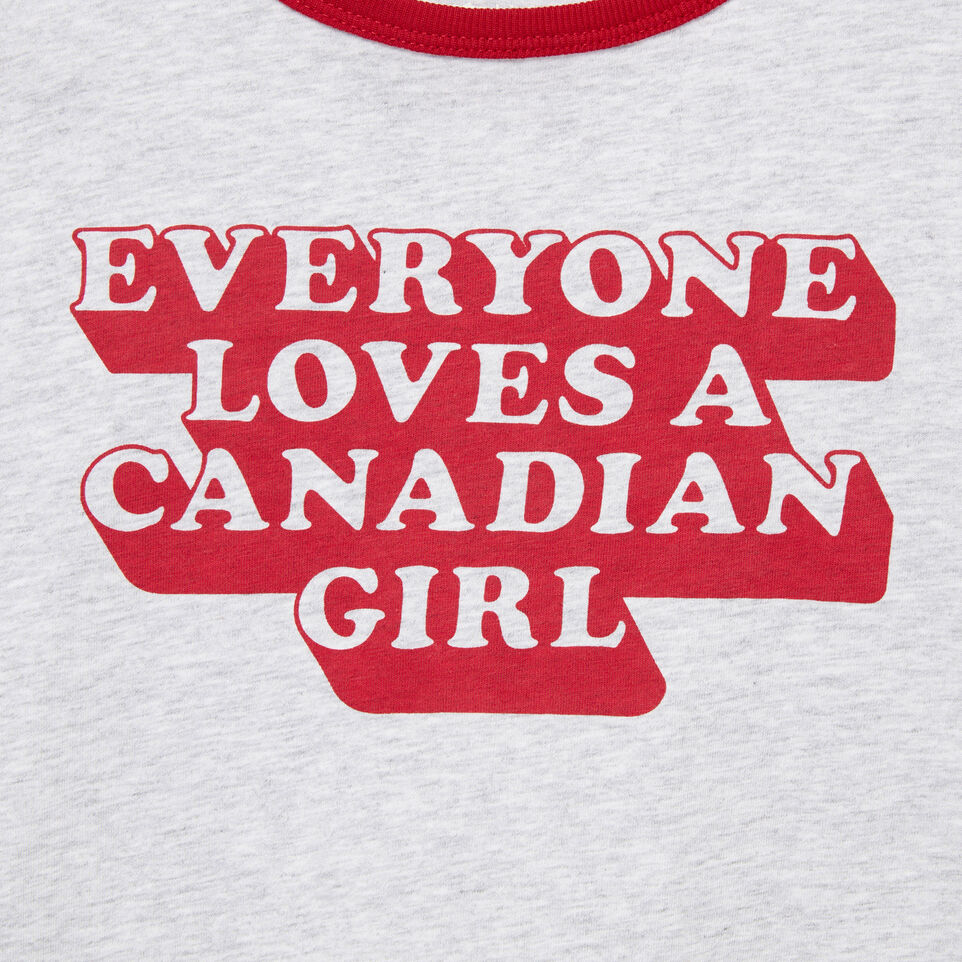 Roots-undefined-T-shirt Canadian Girl pour filles-undefined-D