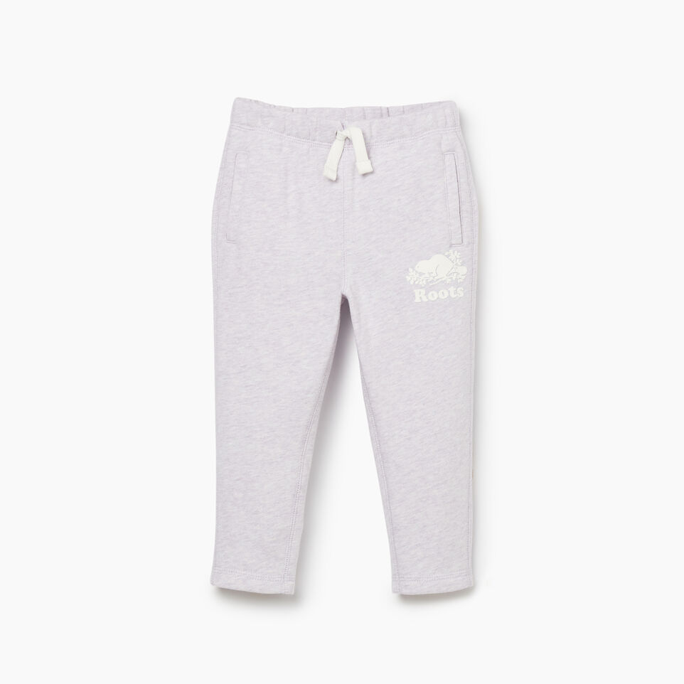 Roots-Kids Bottoms-Toddler Easy Ankle Sweatpant-Wisteria Mix-A