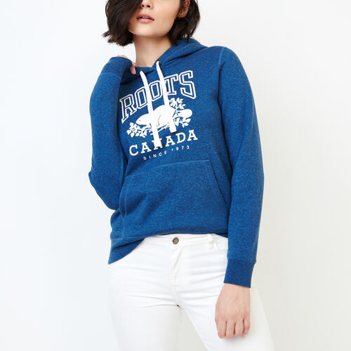Roots-Women Categories-Classic Kanga Hoody-Olympus Blue Mix-A
