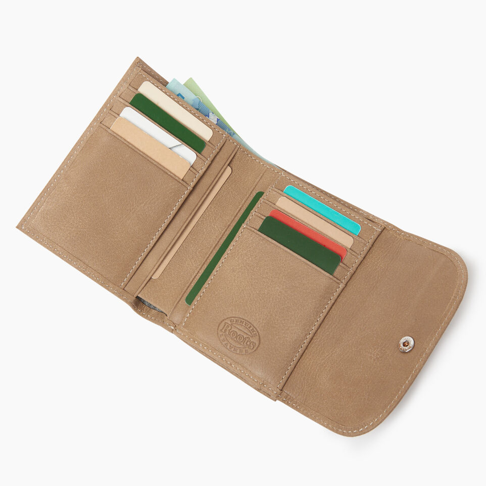 Roots-Leather  Handcrafted By Us Our Favourite New Arrivals-Riverdale Wallet-Sand-D